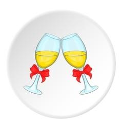 Wedding glasses icon cartoon style vector image vector image