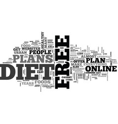 What comes with free diet plans text word cloud vector
