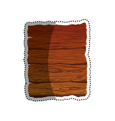 Wooden planks wall vector