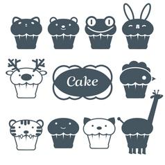 10 cakes set vector