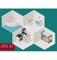 Interior room isometric vector