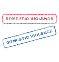 Domestic violence textile stamps vector