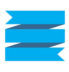 Blue ribbon banner on white background blue vector