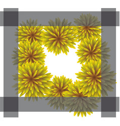 Abstract yellow floral greeting card - holiday vector