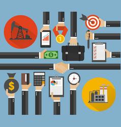 Oil business management modern concept design flat vector