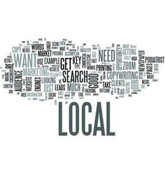Zoom in to the local industry text word cloud vector