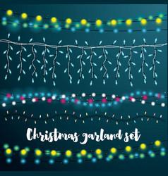 Christmas string lights set vector