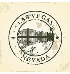 Grunge rubber stamp with las vegas nevada vector