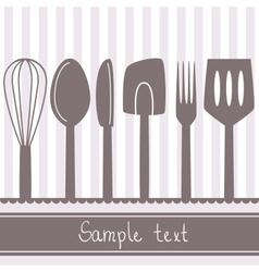 kitchen spoon banner vector image