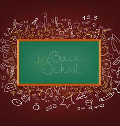 background with education icons vector image