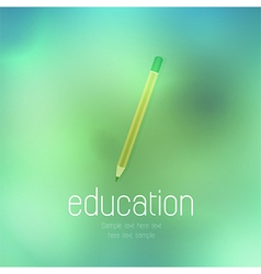 pencil icon on abstract background vector image