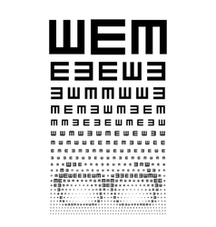 Eye chart vector image