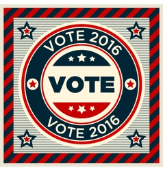 Patriotic 2016 voting poster vector image