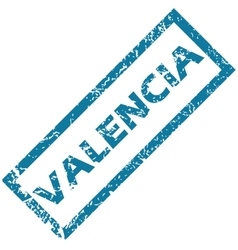 Valencia rubber stamp vector