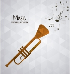 Low poly instrument design vector