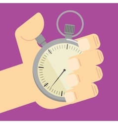 Stopwatch in hand icon isolated vector image