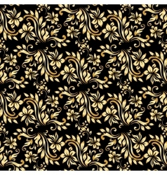 Seamless pattern with luxury damask ornament on vector