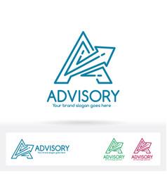 Advisory letter a logo vector