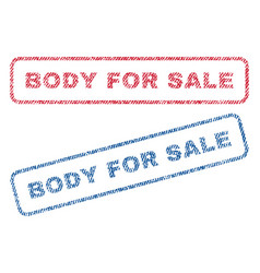 Body for sale textile stamps vector