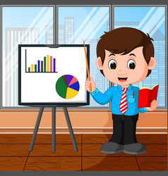 Businessman presentation cartoon vector