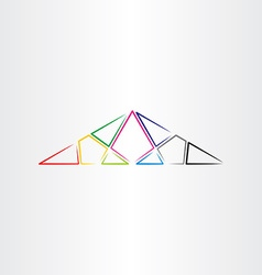 Colorful triangle background design element vector