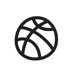 Doodle basketball vector