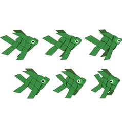 Fish shaped ornaments vector image