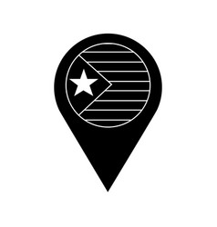 Flag with star and stripes gps pin icon image vector