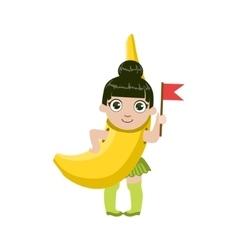Girl Dressed As Banana vector image vector image