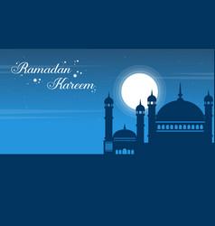 Greeting card style ramadan kareem vector