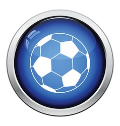 Icon of football ball vector image vector image
