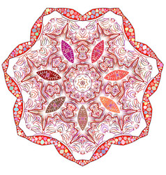 Indian ornament kaleidoscopic floral mandala vector