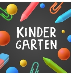 Kindergarten preschool background vector image