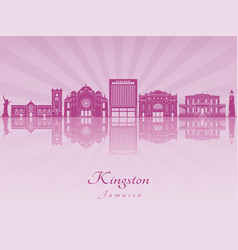 Kingston in purple radiant orchid vector