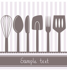 kitchen spoon banner vector image vector image