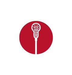 Lacrosse stick circle icon vector