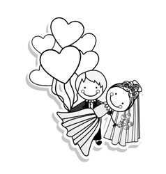 Married couple icon image vector