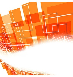 Modern bright orange swoosh background vector