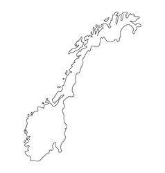 norway map vector image