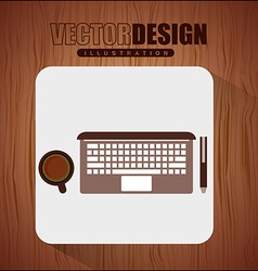 office and business icon design vector image