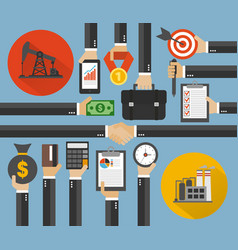Oil business management modern concept design flat vector