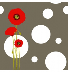 poppy wallpaper vector image vector image