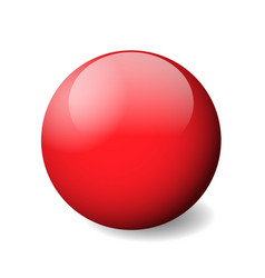 red glossy sphere ball or orb 3d object vector image vector image