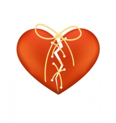 stitched heart vector image vector image