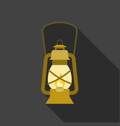 Vintage hurricane lantern icon vector