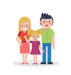 young parents flat vector image vector image
