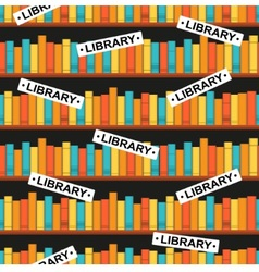 Seamless pattern with a library vector
