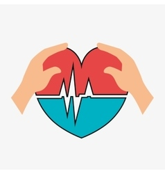 Cardio pulse heart vector