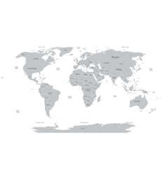 Political world map vector