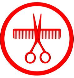 icon of hair salon vector image